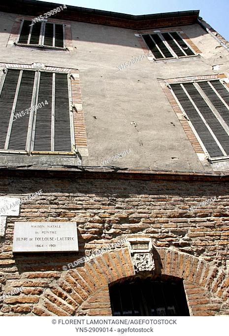 Maison de naissance de Henri de Toulouse Lautrec, peintre, 81, Albi, Tarn, Midi Pyrénées, house, painter