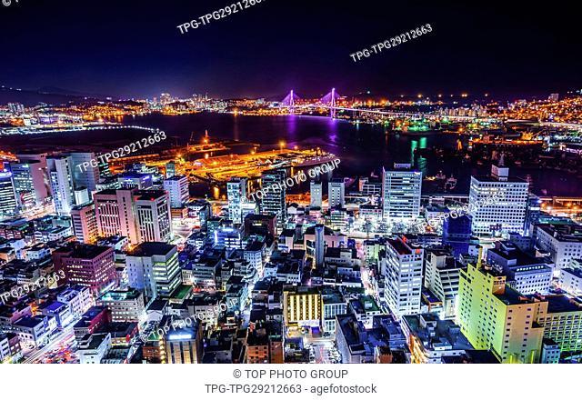 Haeundae at night; Busan;Korea