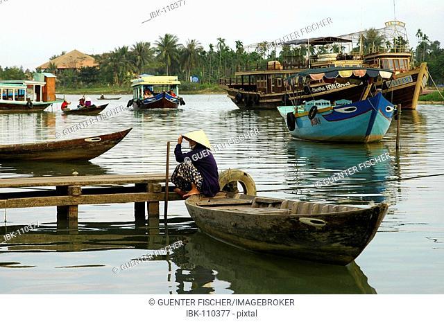 At the river Thun Bon in Hoi An Viet Nam