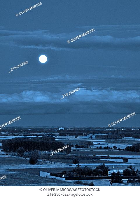 Blue Moon, Leon province, Spain. They call Blue Moon (Blue Moon English translation) to the second full moon occurring during the same month of the Gregorian...