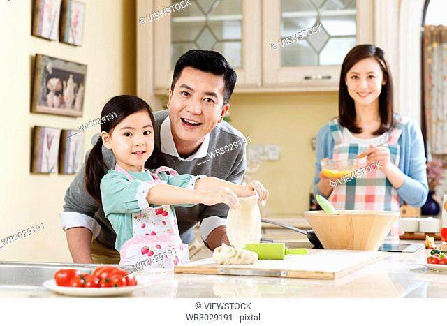 Happy families are in the kitchen