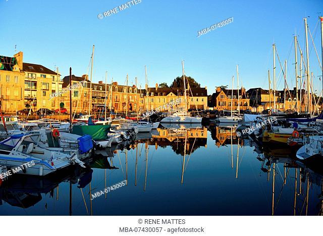 France, Cotes d'Armor, Paimpol, yachting harbour