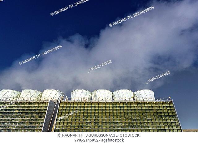 The Krafla Geothermal Power Station, Iceland