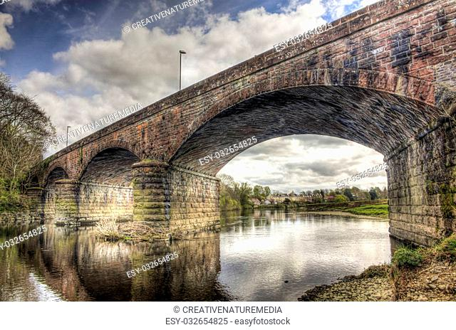 HDR shot looking underneath and through the Nith Viaduct (also known as Queen of the South Viaduct) which used to carry the Old Maxwellton Railway in Dumfries...