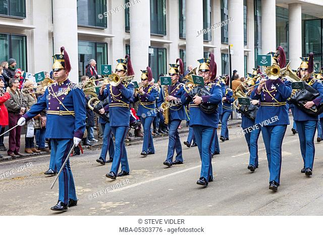 England, London, The Lord Mayor's Show, Marching Band