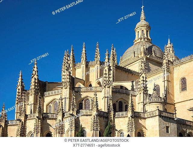 The late Gothic, 16th cen. Cathedral in Segovia, Spain