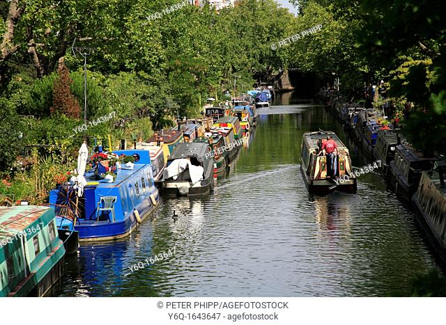 Barges & Houseboats at 'Little Venice' in London