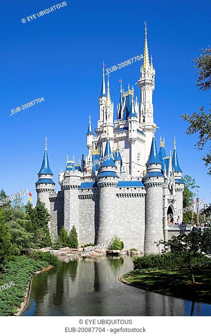 Walt Disney World Resort. Cinderella's Castle in the Magic Kingdom