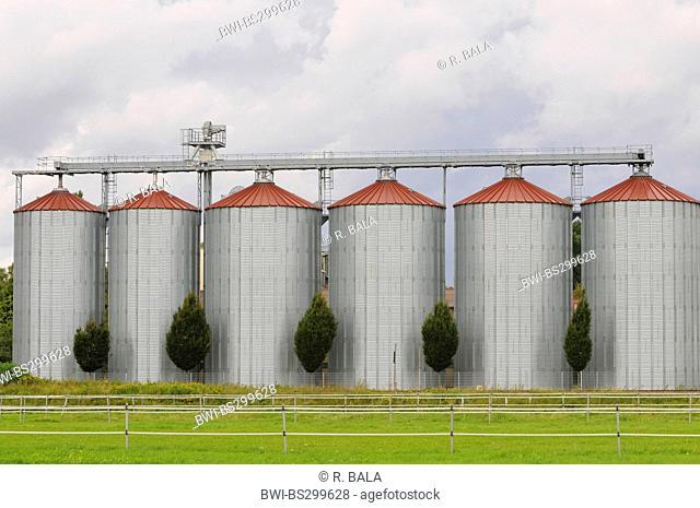 large silo complex, Germany, North Rhine-Westphalia
