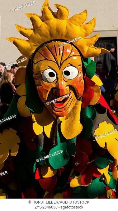 Swabian-Alemannic carnival 'Fasnet' in Buehl, South Germany-Baden Wuerttemberg, Germany, Europe