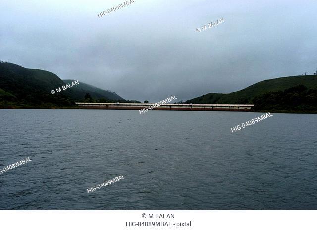 MULLAPERIYAR DAM OF PERIYAR RIVER IN PERIYAR TIGER RESERVE THEKKADY