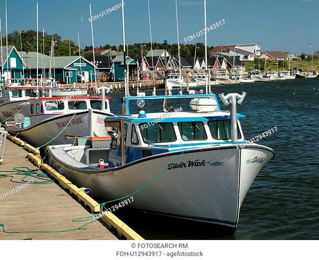 Canada, Prince Edward Island, North Rustico, Queens County, Gulf of Saint Lawrence, fishing village, harbor, fishing boats, marina