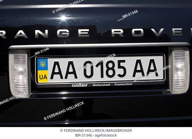 Ukraine Kiev district Podil Kontraktova Place lizence nummer of luxury car 2004