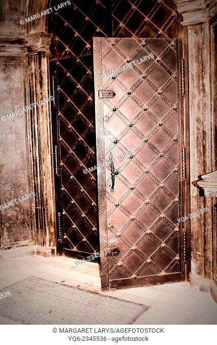 Old medieval church door