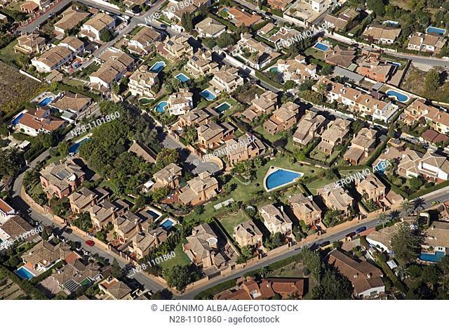 Housing developments, Mijas, Málaga province, Costa del Sol, Andalusia, Spain