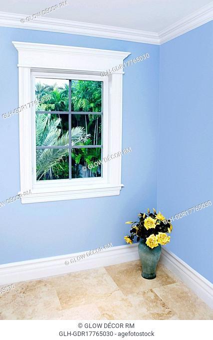 Flower pot in a room