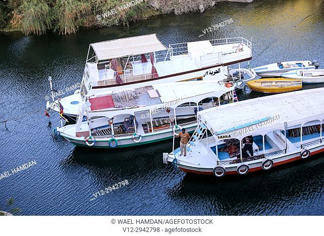 Boats on Nile, Nubia, Egypt
