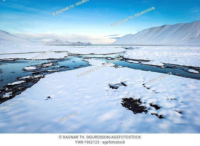 Wintertime, Kolgrafarfjordur, Snaefellsnes Peninsula, Iceland