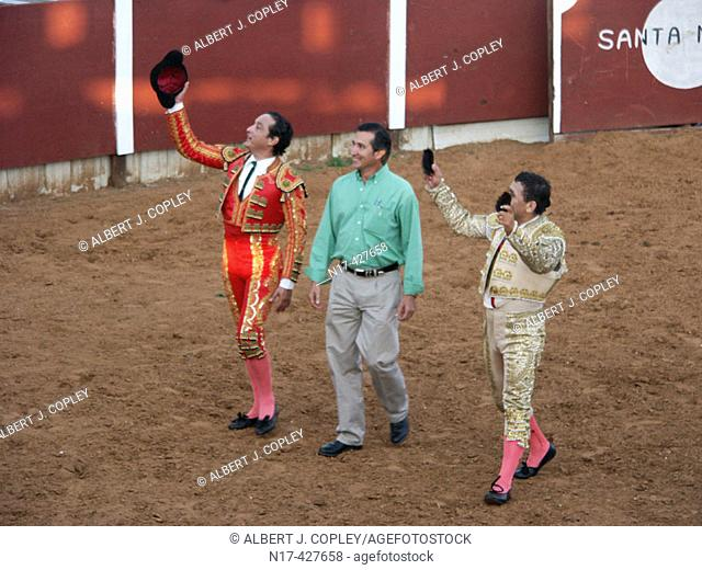 Bullfighters' grand entry into arena