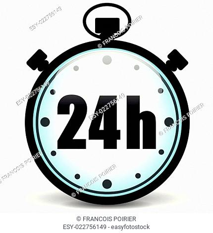 stopwatch 24h icon