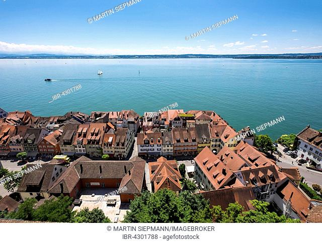 Lower town, Meersburg on Lake Constance, Bodenseekreis, Upper Swabia, Baden-Württemberg, Germany