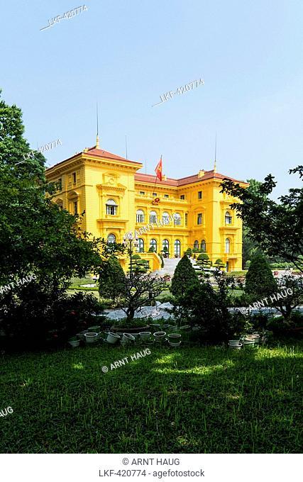 Former presidential palace of Hanoi, Vietnam, Asia
