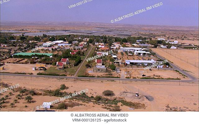 Aerial footage of Hatseva at the Arava Desert