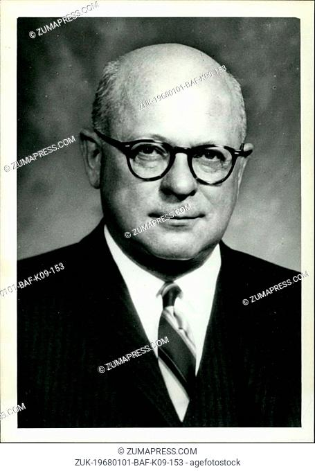 Jan. 01, 1968 - Stuart T. Saunders, Chairman & Chief Executive Officer of the Pennsylvania Railroad which now merged in greatest ever RR merger with New York...