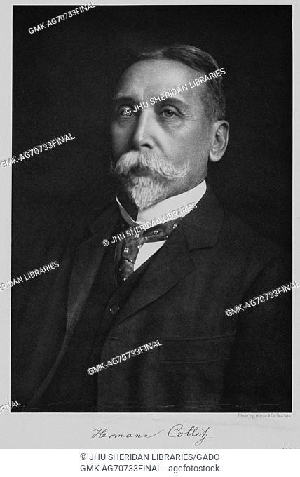 Half-length seated portrait of German linguist and Professor of Germanic Philology Hermann Collitz, 1900