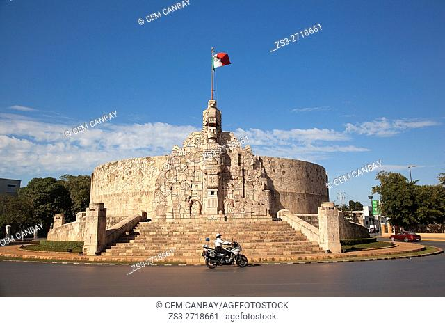 Monument to the Fatherland (1956), by Romulo Rozo Pena (1899-1964), Paseo de Montejo, Merida, Riviera Maya, Yucatan Province, Mexico, Central America