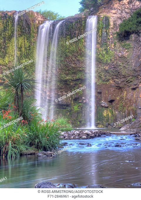 Whangarei Falls, Whangarei, Northland, New Zealand. High Dynamic Range Images