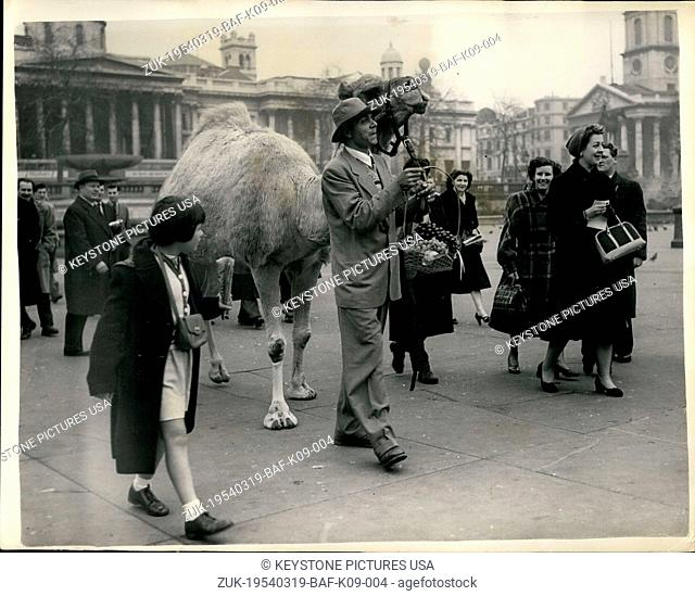 Mar. 19, 1954 - Al (the eyes) Debbo arrives in London: Al (The eyes) Debbo claimed to be the No.1.Funny man of south Africa - arrived at Waterloo station this...