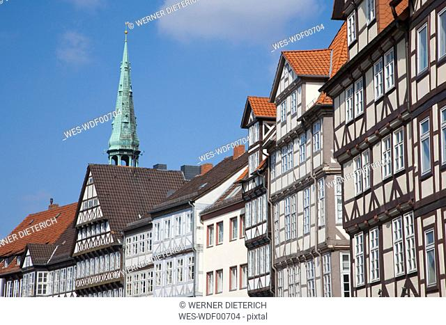 Germany, Hannover, Burg Street, Row of houses