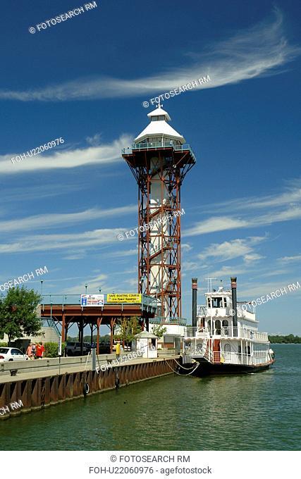 Erie, PA, Pennsylvania, Lake Erie, Bayfront, Bicentennial Tower, Paddlewheeler Boat