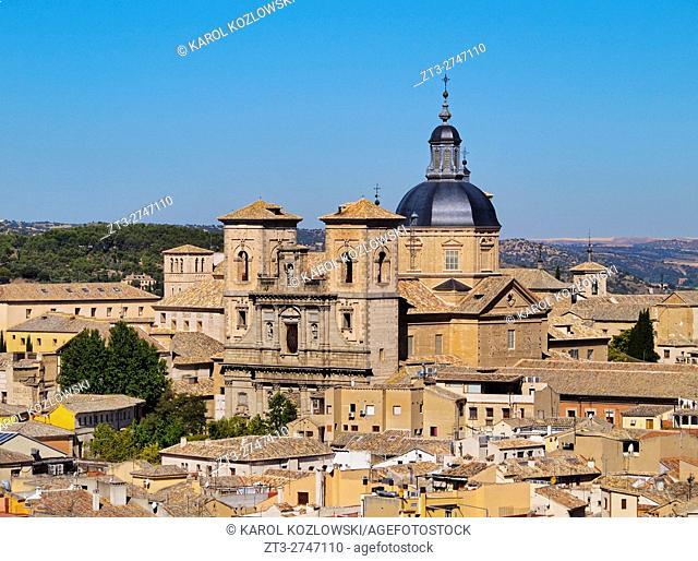 Spain, Castile La Mancha, Toledo, Old Town, View towards the San Ildefonso Church.
