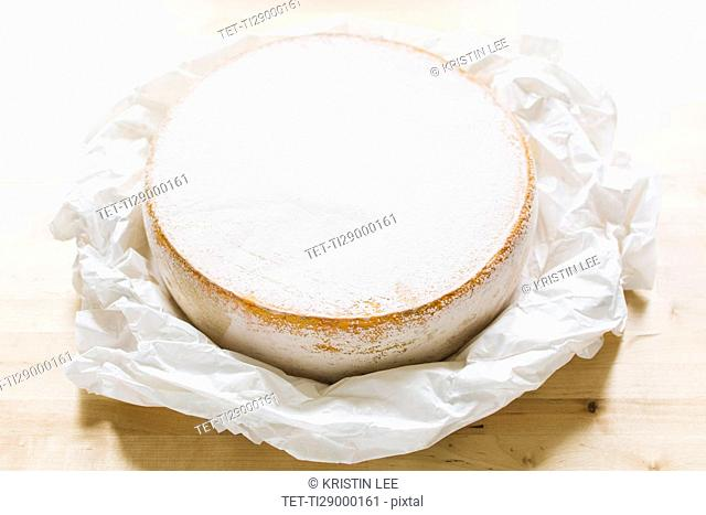 Close up of cheese circle