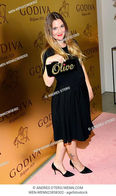 Drew Barrymore attends Godiva's 90th anniversary party at Marlborough Chelsea Featuring: Drew Barrymore Where: New York, New York