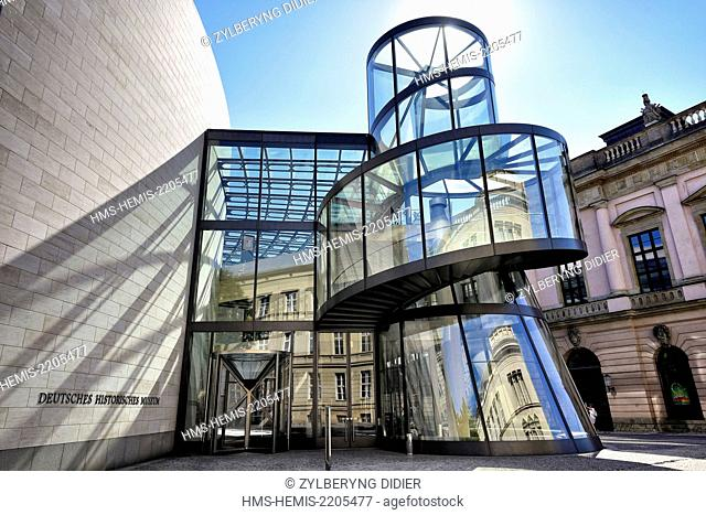 Germany, Berlin, Mitte district, Museum island, listed as World Heritage by UNESCO, the German History Museum, the entrance designed by Ieoh Ming Pei architect
