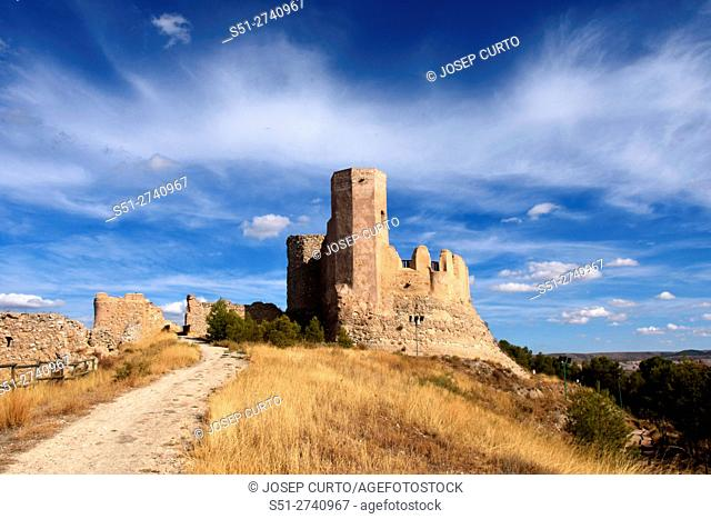 Castle of Ayab in Calatayud, Zaragoza province, Aragon, Spain