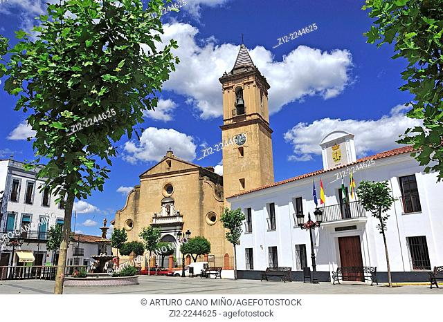 Church of San Miguel Arcangel, XVIIIth century. Jabugo, Huelva, Spain