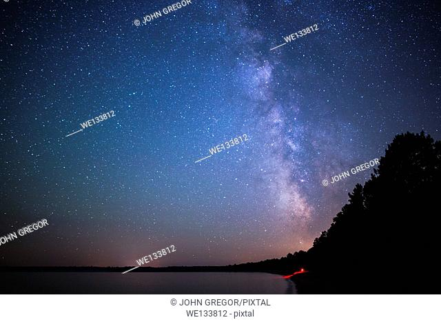 Milky Way Over Big Bay Town Park, Madeline Island, Wisconsin, Lake Superior