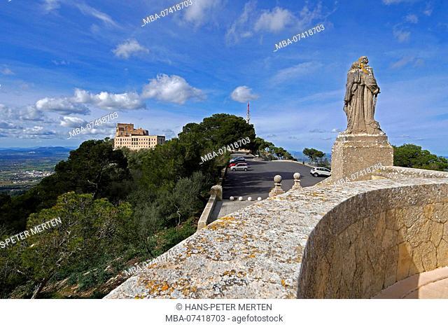 Santuario San Salvador on the Puig de Sant Salvador at Felanitx, Mallorca, Baleares, Spain