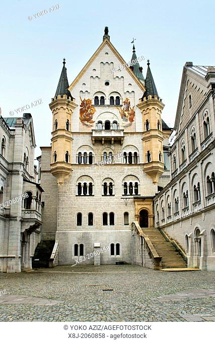 Germany, Bavaria, Schwangau, Neuschwanstein Castle