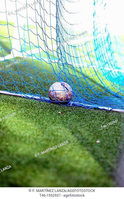Soccer ball into a goal in soccer 11