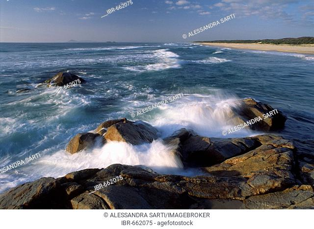 The surf at Hat Head National Park, New South Wales, Australia, Oceania