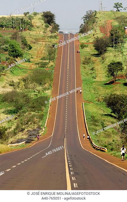 Paraguay. Itapúa Department. Route  6  Encarnacion to Ciudad del Este