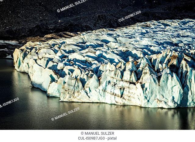 Detail of Torre glacier and laguna in Los Glaciares National Park, Patagonia, Argentina