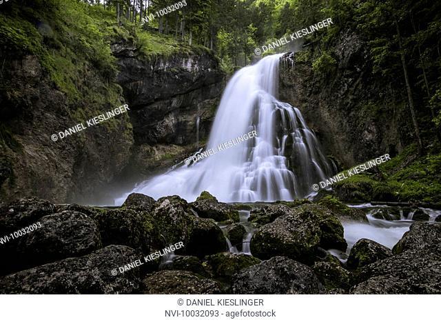 Golling waterfall, Golling an der Salzach, Salzburger Land, Austria