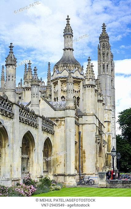 King's College Cambridge gatehouse, King's Parade, Cambridge, England, UK