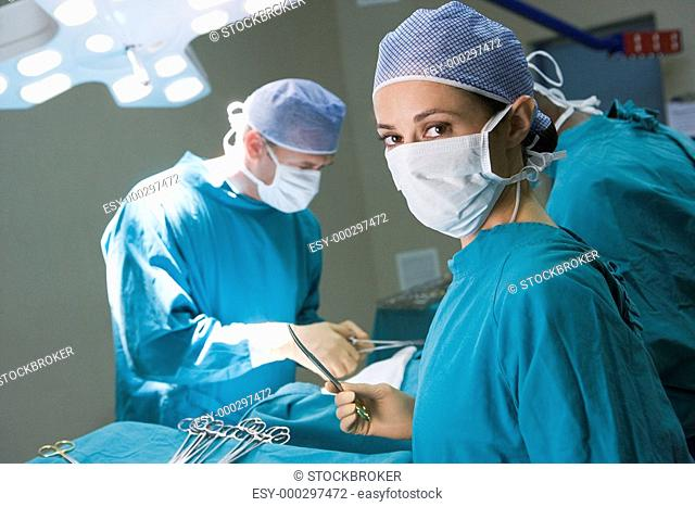 Surgeon Getting Ready To Operating On A Patient